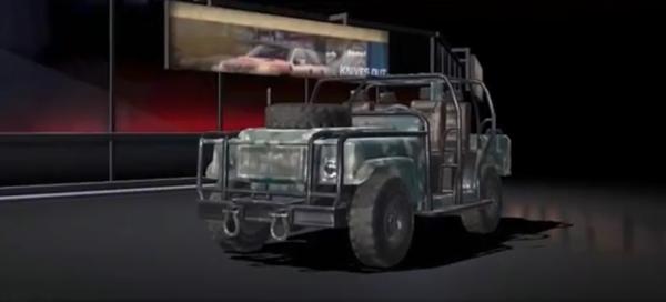 荒野行動の装甲車(ジープ)の車両スキン